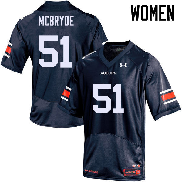 Women Auburn Tigers #51 Richard McBryde College Football Jerseys Sale-Navy